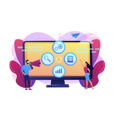 marketing campaign management concept vector image
