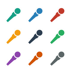 Microphone icon white background vector