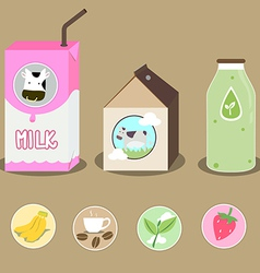 milk 2 vector image