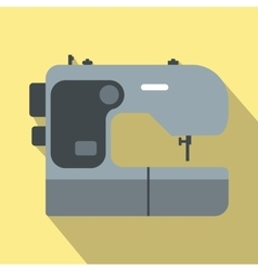 Modern sewing machine flat icon vector image