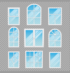modern transparent windows different forms vector image