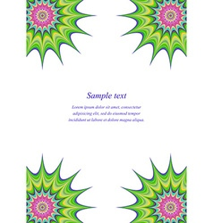 Multicolored page corner design template vector
