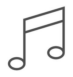 music note line icon musical and sound melody vector image