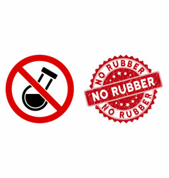 No chemical analysis icon with distress no rubber vector