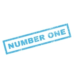 Number One Rubber Stamp vector