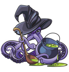 Octopus witch vector