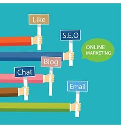 online marketing concept flat design vector image
