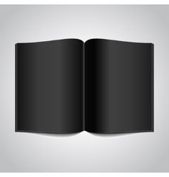 Open Book with Black Glossy Pages vector image