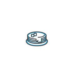 Pancakes icon design gastronomy icon vector