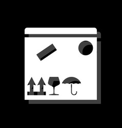 parcel box icon flat vector image
