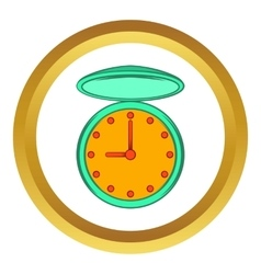 Pocket watch with cover icon cartoon style vector