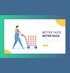 Poultry farm worker wearing uniform overall vector