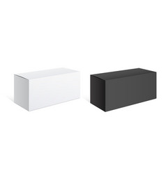 realistic black and white packing boxes vector image