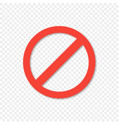 Red ban icon on transparent background with shadow vector