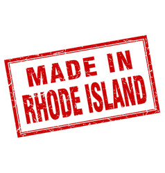 Rhode island red square grunge made in stamp vector