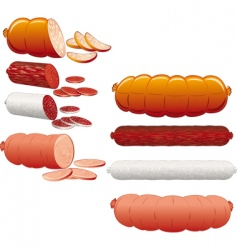 Sausage collection vector