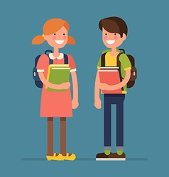 School Kid Character Icons vector image
