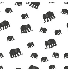 seamless pattern background with elephants vector image