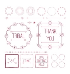 Set of Ethnic ornamental decor elements vector image