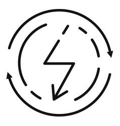 Smart house alternative energy icon outline style vector