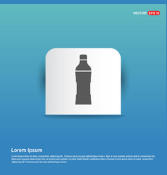 Soda drink bottle icon - blue sticker button vector