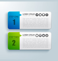 Steps for successful business infographic concept vector