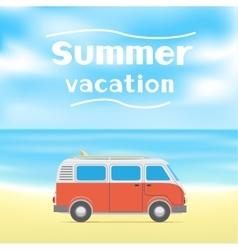 Summer surf vacations vector