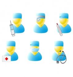 symbols of doctors vector image vector image