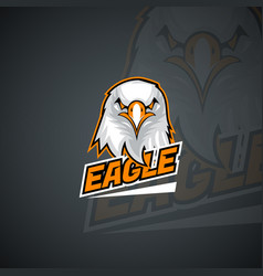 t-shirt logo template with furious eagle high vector image