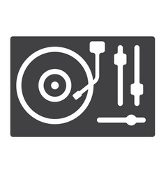 Turntable glyph icon music and instrument vector