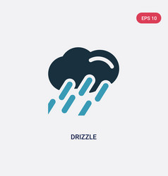 Two color drizzle icon from meteorology concept vector