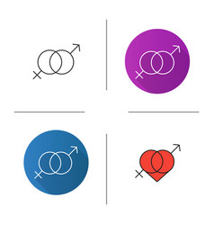 Valentines day icon vector