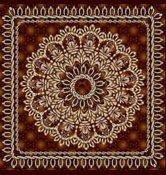 Vintage floral round mandala seamless pattern vector