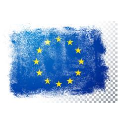 vintage grunge texture flag europe vector image