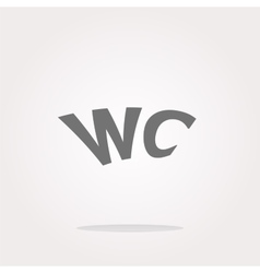 wc icon web button isolated on white vector image