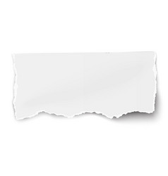 white paper tear with soft shadow isolated vector image