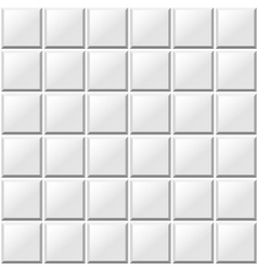 White tiles seamless pattern vector
