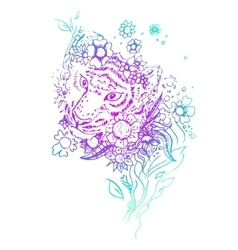 Abstract graphic colored tiger print vector image vector image