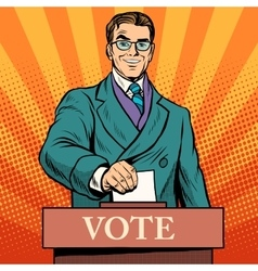 Candidate votes at the elections vector image vector image