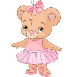 Cute Teddy Bear Ballerina vector image vector image