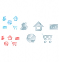 icons for web design vector image vector image