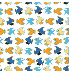 pattern with funny fishs vector image vector image