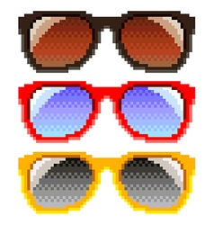 Pixel sunglasses isolated vector image vector image