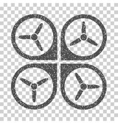 Quadrotor Grainy Texture Icon vector image vector image