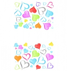rainbow hearts background vector image vector image