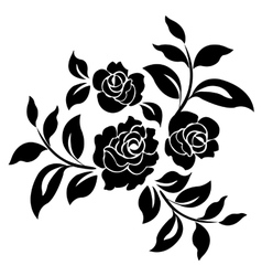 Silhouette of roses vector image