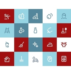 Cleaning icons Flat style vector image vector image
