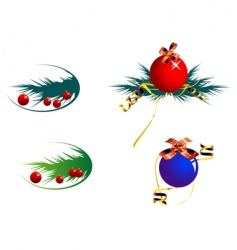 decoration balls vector image vector image