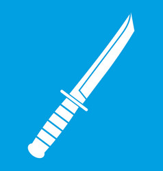little knife icon white vector image