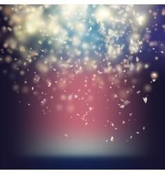 Randomly flowing confetti backgound eps 10 vector